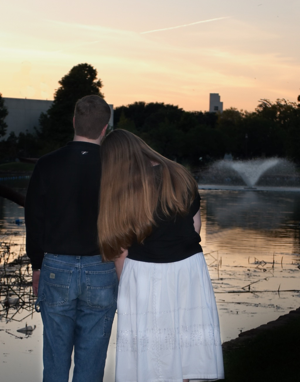 Ted and Megan at the Lagoon in Fair Park